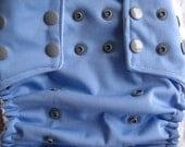 OS Pocket Cloth Diaper - Blue and Silver