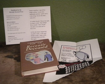 Beetlejuice Handbook for the Recently Deceased Book / movie prop / Zombie, Dead, Undead, Halloween Decor, Geek, Horror