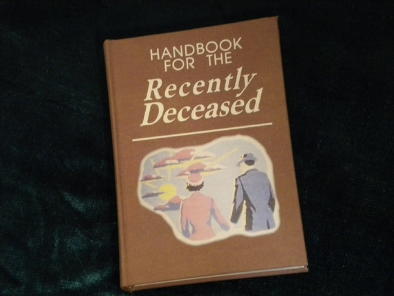 Beetlejuice Handbook for the Recently Deceased Book / movie prop / Zombie, Day of the Dead, Undead, Halloween, Geek, Horror, Fun, Tim Burton