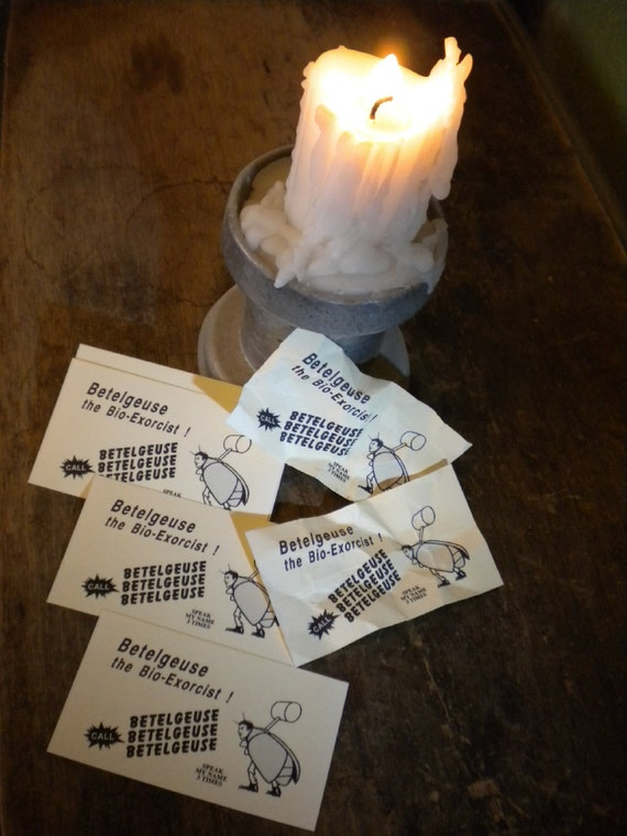 Beetlejuice Business Cards - movie / costume prop - Betelgeuse - Beatlejuice - Handbook for the Recently Deceased - Halloween, Day Dead