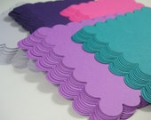 "60 - 3"" Scalloped Square Spring Colors, Tag, Scrapbook, Cards, Topper, Embellishment"