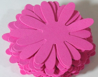 "Pink 2""  Daisy flowers, 25, 50, 100, 2 inch  Cardstock, Die Cut,  Embellishment, Scrapbook, Tags, Weddings"