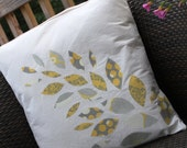 Leaf Design Pillow Cover 18x18