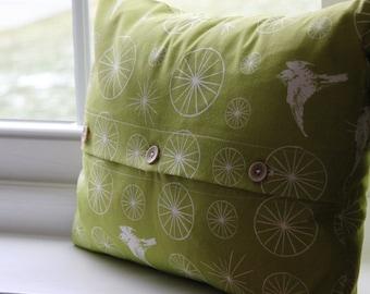 Organic Starry Flight Pillow Cover 12x16