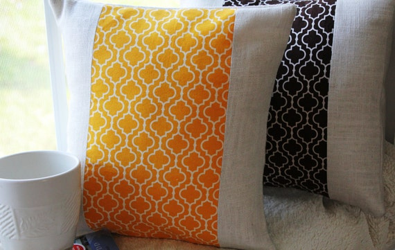 Metro Living Pillow Cover in Marigold 12x12