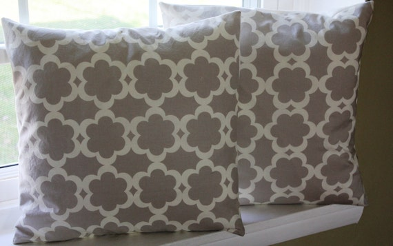 18x18 Tarika Neutral Pillow Cover Set