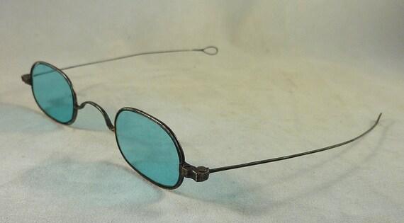 Civil War Era Sunglasses with Blue Lenses
