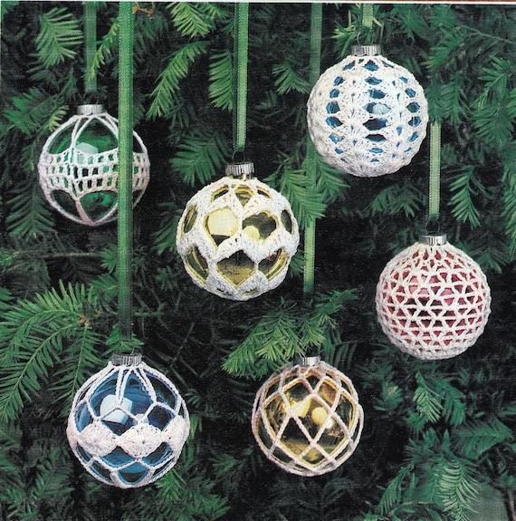 Crochet Christmas Ornament Covers Vintage Crocheting PDF PATTERN