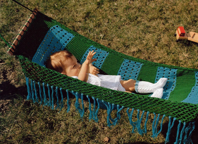 Crochet baby hammock vintage crocheting pdf pattern zoom bankloansurffo Image collections