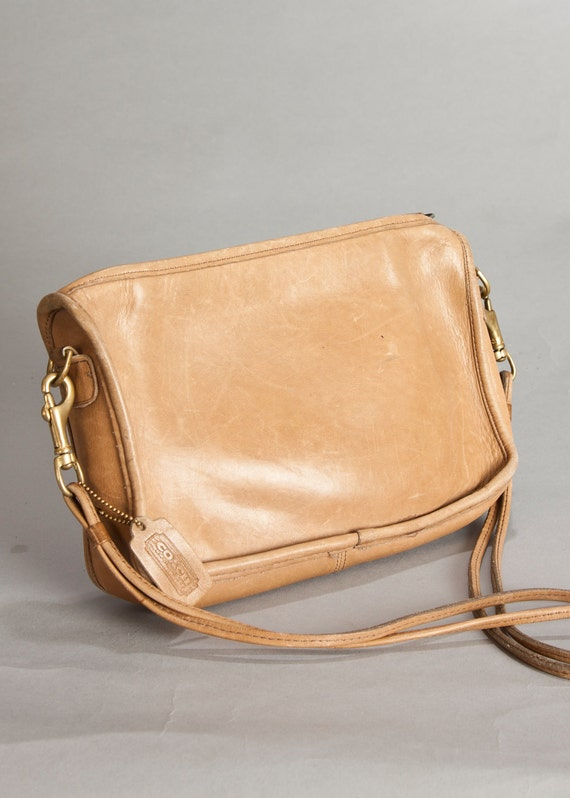 RESERVED - Vintage Coach Leather Small Purse - tan