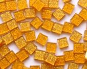 Acrylic Mosaic 5x5mm tiles - Honey Gold Sparkles
