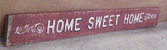 HOME SWEET HOME Barnwood sign.  Ready-to-hang. I  Hand painted on wood from a barn in Tennessee