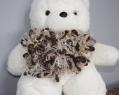 Soft Brown and Tan yarn scarf