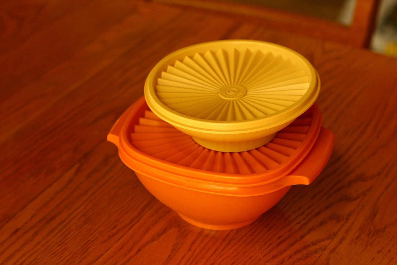 Vintage Tupperware Orange And Yellow Tupperware