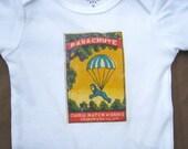 Vintage Indian Matchbox Print Onesie - Parachute