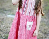 Upcycled Linen Playdate Dress - 4T