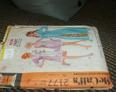 mccall's 2177 size 14 robe and nightgown pattern 1969