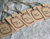 5 handmade Mason Jar Labels