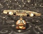 Braun und natürlichen Hanf-Halskette mit Polymer Clay Goomba Charme und Akzent Perlen