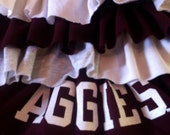 Collegiate Texas A&M Aggies - Upcycled Knit Ruffle skirt - 6-12 years(Paige)