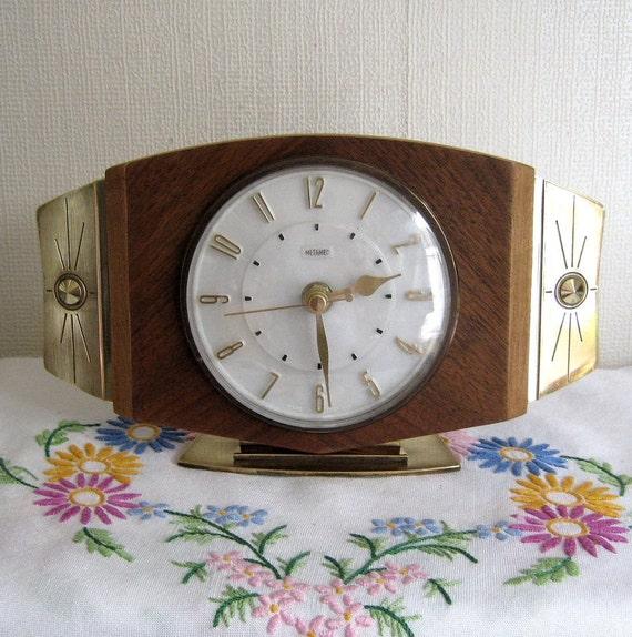Recycled Metamec Vintage Mantel Shelf Clock