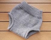 Handknit 100% Wool Soaker/Diaper Cover - Size Medium- Oatmeal color