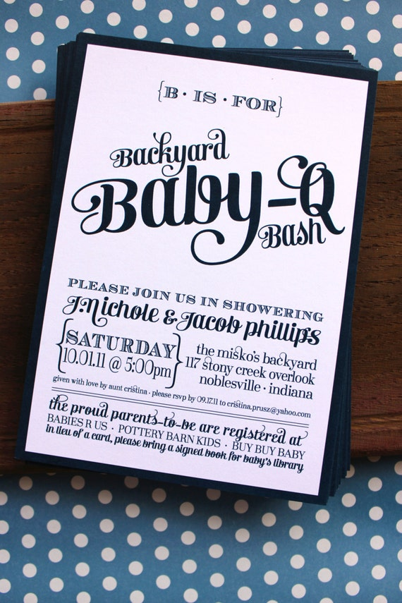 new baby shower invitations bbq new baby shower