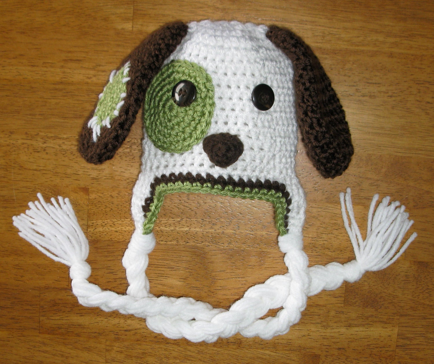 CROCHET PATTERN Hat Puppy Patchy Puppy Dog Beanie and