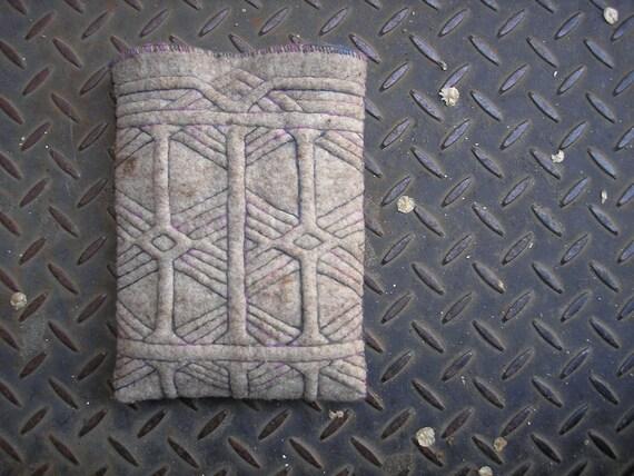RESERVED for Steph - Urban Nomad shoulder bag or hip bag - Ethnic filipino hand quilted motif