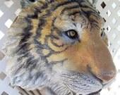 Lifesized Tiger Head wall sculpture