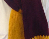 Garnet and Gold Scarf