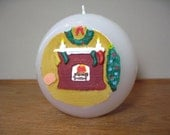 Hand Painted Christmas Ball Candle