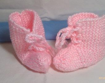 Pastel Pink Baby Booties