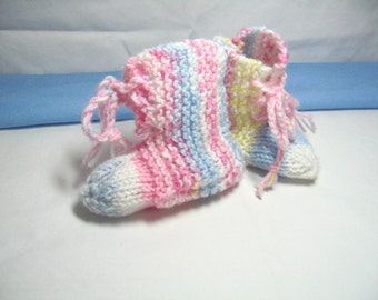 Multi Colored Baby Booties