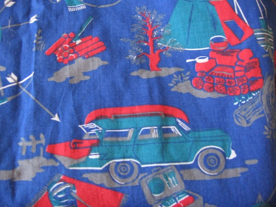 Vintage Camping Theme Fabric