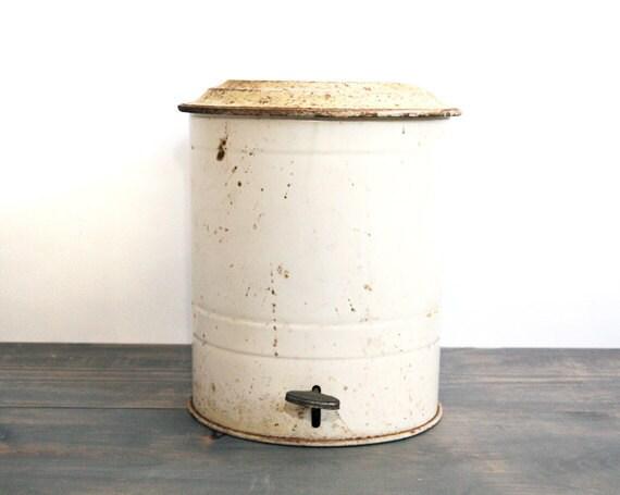 Industrial Metal Sani-Can Trash Can - Vintage Waste Basket