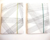 Graphed Work combo pair of soft bound graphpaper journals notepads or sketchbooks
