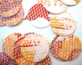 Textile Stickers or Envelope Seals : Dot Pattern Stickers set of 24 mini screen print circle stickers with textured pattern