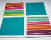 Striped Coaster, Set of 4