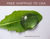 12mm Glass Cabochons, Clear Transparent, 100pcs, FREE SHIPPING within USA