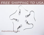 500pcs Silver Earring Hooks, 18mm high, FREE SHIPPING to USA