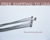 500 pcs Silver Ball Headpins, 0.5mm thick, 2 Inch (5.0cm) long, FREE SHIPPING within USA