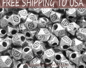 500pcs Silver Faceted Spacer Beads, 3.5x3mm in diameter, FREE SHIPPING to USA