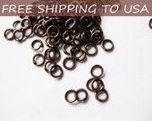 1000pcs Red Copper JumpRings, Close but Unsoldered, 0.7mm thick, 4mm diameter, FREE SHIPPING within USA