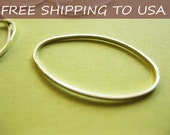 Silver Oval Connector, Link, Spacer 16x26x1mm, 200pcs, FREE SHIPPING within USA