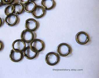 1000pcs Antique Bronze JumpRings, Close but Unsoldered, 0.7mm thick, 4mm diameter,