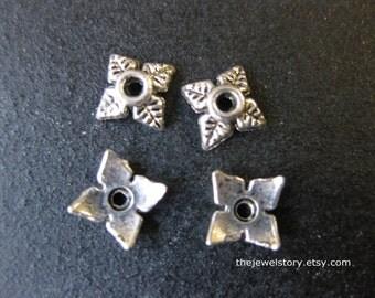 50 pcs Antique Silver Bead Cap, 6mm x 6mm x 2mm, hole: 2mm  - 201109c14