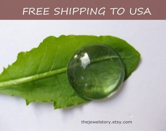 50 pcs Clear Transparent Glass Cabochons, 14x4.8mm thick,''''FREE SHIPPING to USA''''
