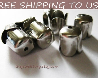50 pcs Antique Silver bead caps, 6.5x8mm, FREE SHIPPING to USA
