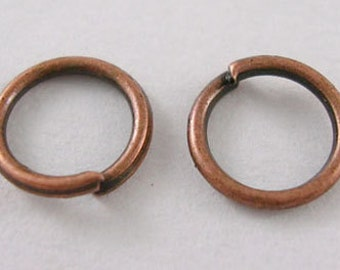 500pcs Red Copper JumpRings, Close but Unsoldered, 0.7mm thick, 6mm diameter, FREE SHIPPING within USA